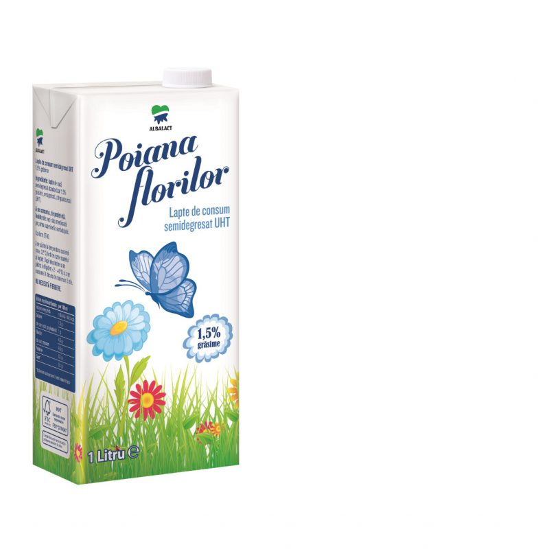 Poiana Florilor lapte UHT semidegresat