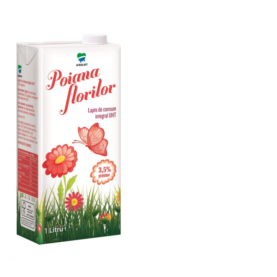 Poiana Florilor UHT whole milk