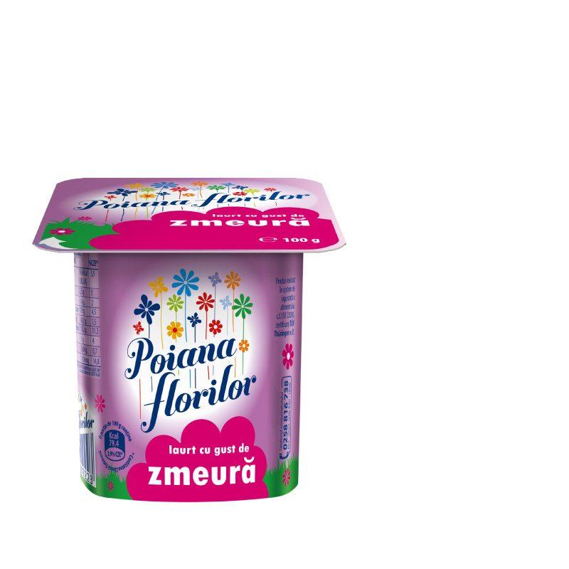 Poiana Florilor raspberry flavoured yoghurt