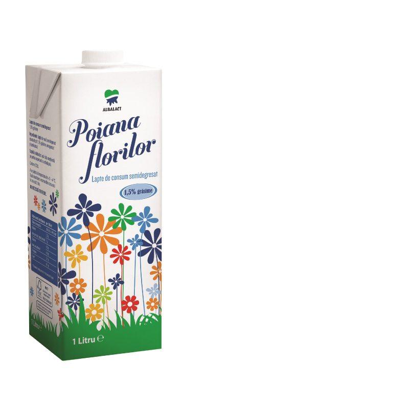 Poiana Florilor lapte pasteurizat semidegresat