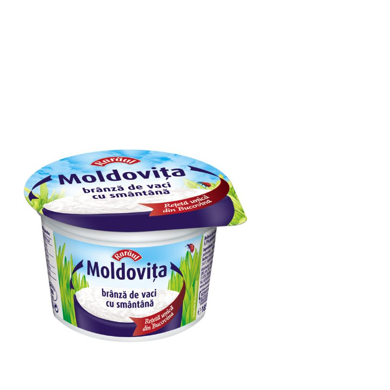 Rarăul Moldovita fresh cheese with sour cream