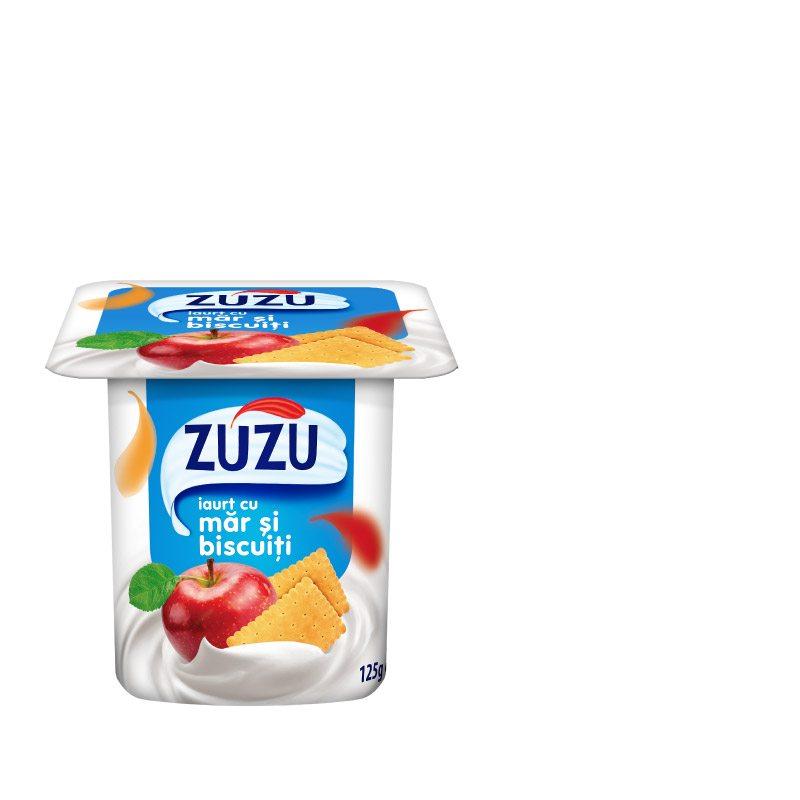 Zuzu iaurt cu măr şi biscuiţi