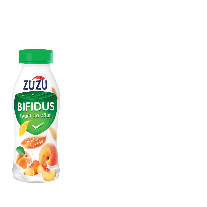 Zuzu Bifidus drinking yoghurt with apricot and peach