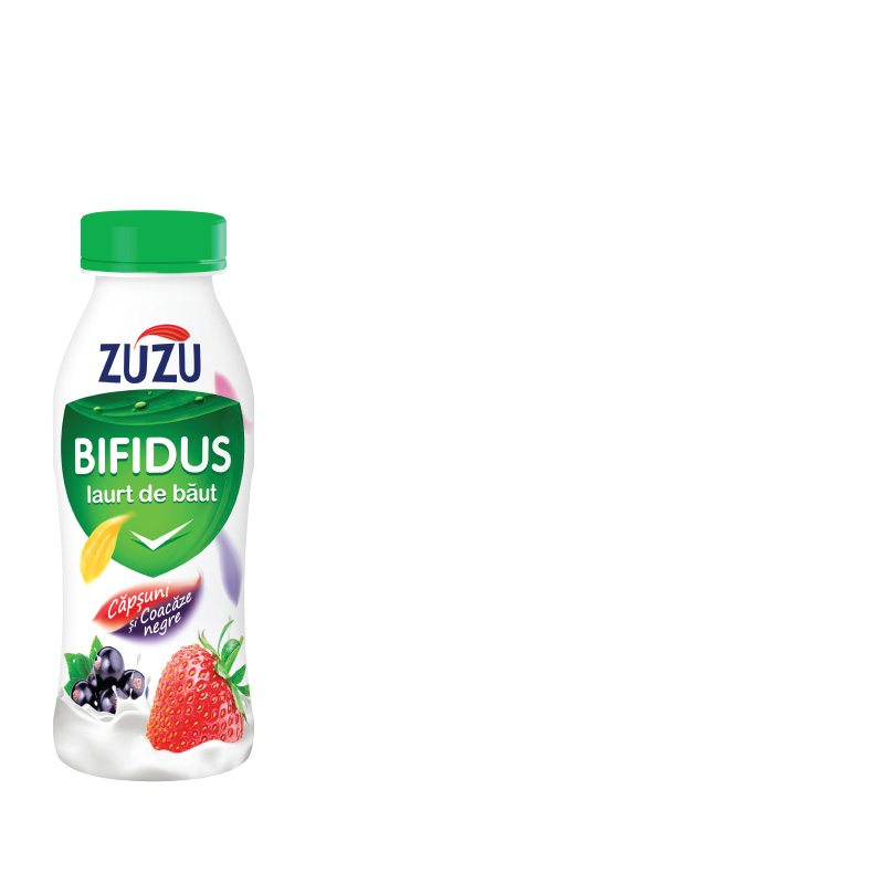 Zuzu Bifidus drinking yoghurt with strawberry and blackcurrant