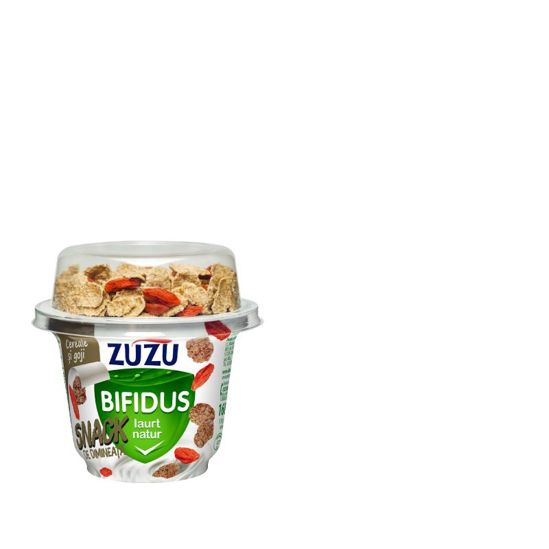 Zuzu Bifidus natural yogurt & cereals with goji berries