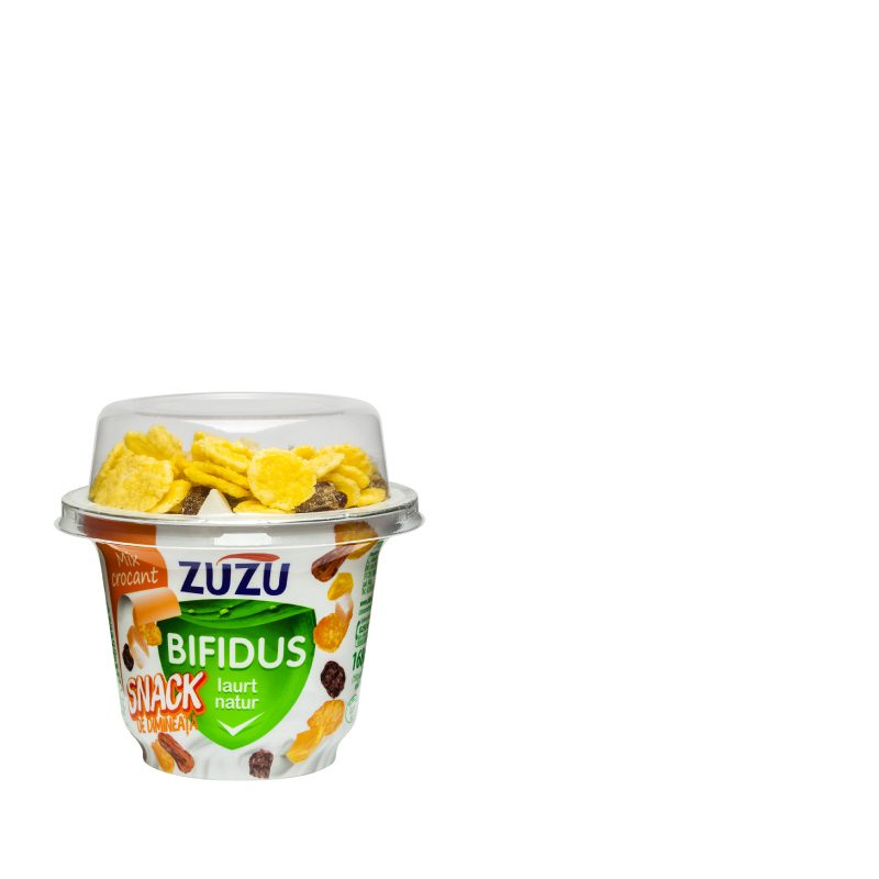 Zuzu Bifidus natural yogurt & crunchy cocktail mix