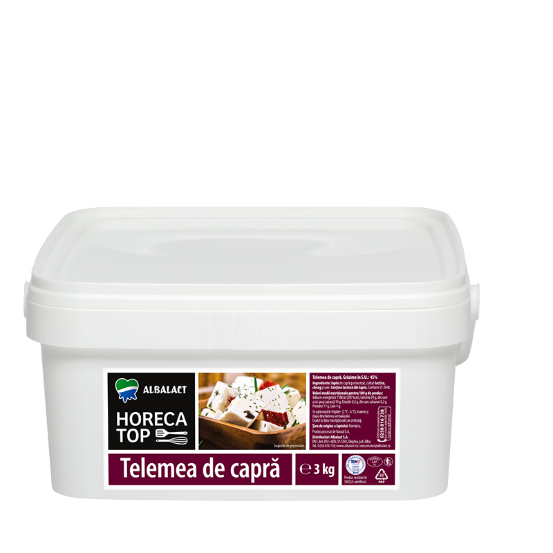 Horeca Top goat milk telemea cheese